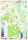 Deichbruch-Szenario L1 Bucher Deich - Ausbreitung nach 1 Stunde