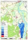 Deichbruch-Szenario L1 Bucher Deich - Ausbreitung nach 6 Stunden