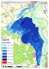 Deichbruch-Szenario L1 Bucher Deich - Ausbreitung nach 96 Stunden