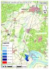 Deichbruch-Szenario T1 Treueldeich - Ausbreitung nach 1 Stunde