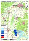 Deichbruch-Szenario T1 Treueldeich - Ausbreitung nach 3 Stunden