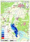 Deichbruch-Szenario T1 Treueldeich - Ausbreitung nach 12 Stunden