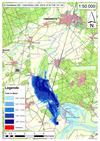 Deichbruch-Szenario T1 Treueldeich - Ausbreitung nach 24 Stunden
