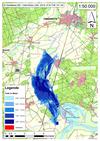 Deichbruch-Szenario T1 Treueldeich - Ausbreitung nach 48 Stunden