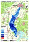 Deichbruch-Szenario T1 Treueldeich - Ausbreitung nach 96 Stunden