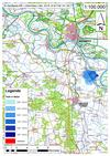 Deichbruch-Szenario L4 Deich bei Unterkamps - Ausbreitung nach 3 Stunden