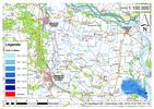 Deichbruch-Szenario L3 - Deich bei Osterholz - Ausbreitung nach 6 Stunden