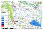 Deichbruch-Szenario L3 - Deich bei Osterholz - Ausbreitung nach 12 Stunden