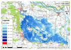 Deichbruch-Szenario L3 - Deich bei Osterholz - Ausbreitung nach 96 Stunden