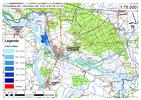 Deichbruch-Szenario R5 Deich bei Havelberg - Ausbreitung nach 1 Stunde