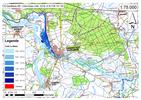 Deichbruch-Szenario R5 Deich bei Havelberg - Ausbreitung nach 3 Stunden