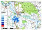 Deichbruch-Szenario R4 Deich nördlich von Sandau - Ausbreitung nach 6 Stunden