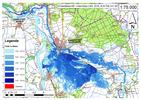 Deichbruch-Szenario R4 Deich nördlich von Sandau - Ausbreitung nach 72 Stunden