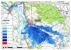 Deichbruch-Szenario R4 Deich nördlich von Sandau - Ausbreitung nach 96 Stunden
