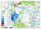 Deichbruch-Szenario R3 Deich südlich von Sandau - Ausbreitung nach 6 Stunden