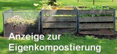 Formular für die Anzeige der Eigenkompostierung
