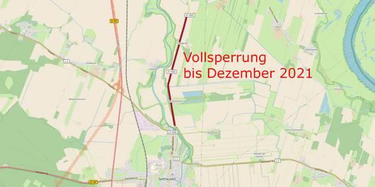 Seehausen Vollsperrung ©Open Streetmap