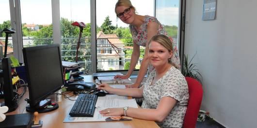 Die Familienintegrationscoaches Caroline Matthies und Nicole Pide. Foto: Volksstimme