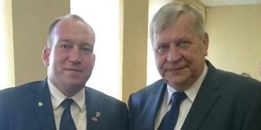 Der 1. Beigeordnete des Landkreises Stendal Dr. Denis Gruber und der Bürgermeister Antanas Tenys