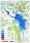 Deichbruch-Szenario L4 Deich bei Unterkamps - Ausbreitung nach 72 Stunden