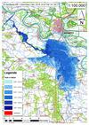 Deichbruch-Szenario L4 Deich bei Unterkamps - Ausbreitung nach 96 Stunden