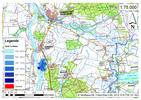 Deichbruch-Szenario R3 Deich südlich von Sandau - Ausbreitung nach 1 Stunde