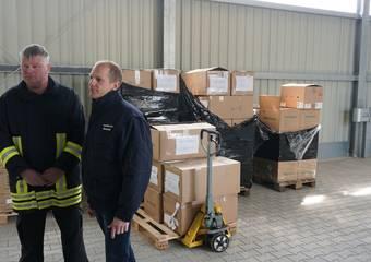 lieferung schutzausrüstung ftz 43 © Pressestelle LK Stendal