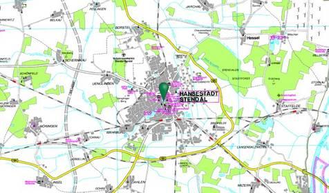 Karte LK Stendal © Städteverlag