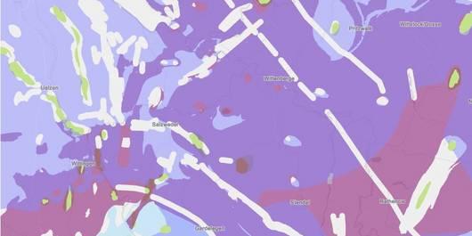Karte der Teilgebiete