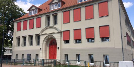 Sekundarschule Bismark Haupteingang01 ©Foto: Landkreis Stendal, Hochbauamt
