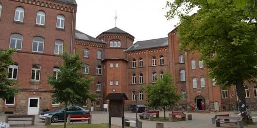 Innenhof des Markgraf Albrecht Gymnasiums in der Hansestadt Osterburg